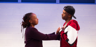 Andrea Harris Smith as Nya and Justin Weaks as Omari in 'Pipeline.' Photo: C. Stanley Photography.