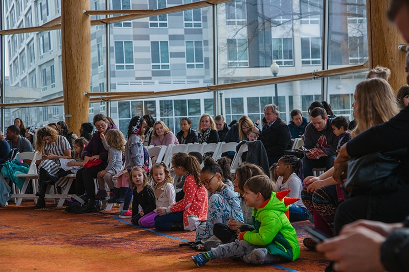 Children and families enjoy the American Pops Orchestra's performance at Arena Stage. Photo courtesy of The American Pops Orchestra.