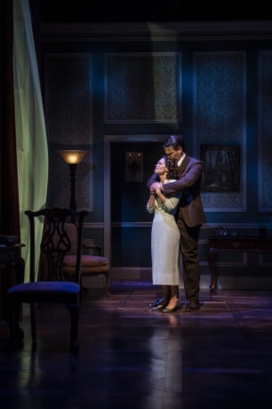 Erin Weaver and David Schlumpf in 'Sheltered' at Theater J. Photo by Teresa Castracane.
