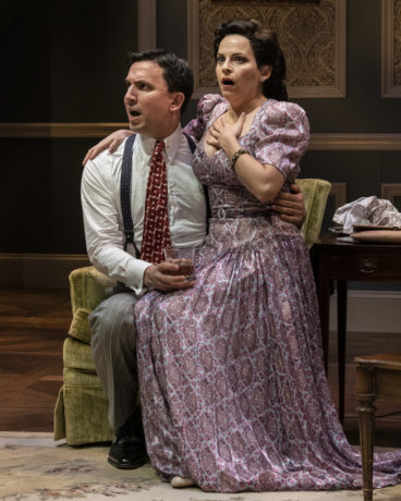 Alexander Strain and Kimberly Gilbert in 'Sheltered' at Theater J. Photo by Teresa Castracane.