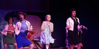 'Grease' plays through March 15 at Riverside Center for the Performing Arts. Photo courtesy of Riverside Center for the Performing Arts.
