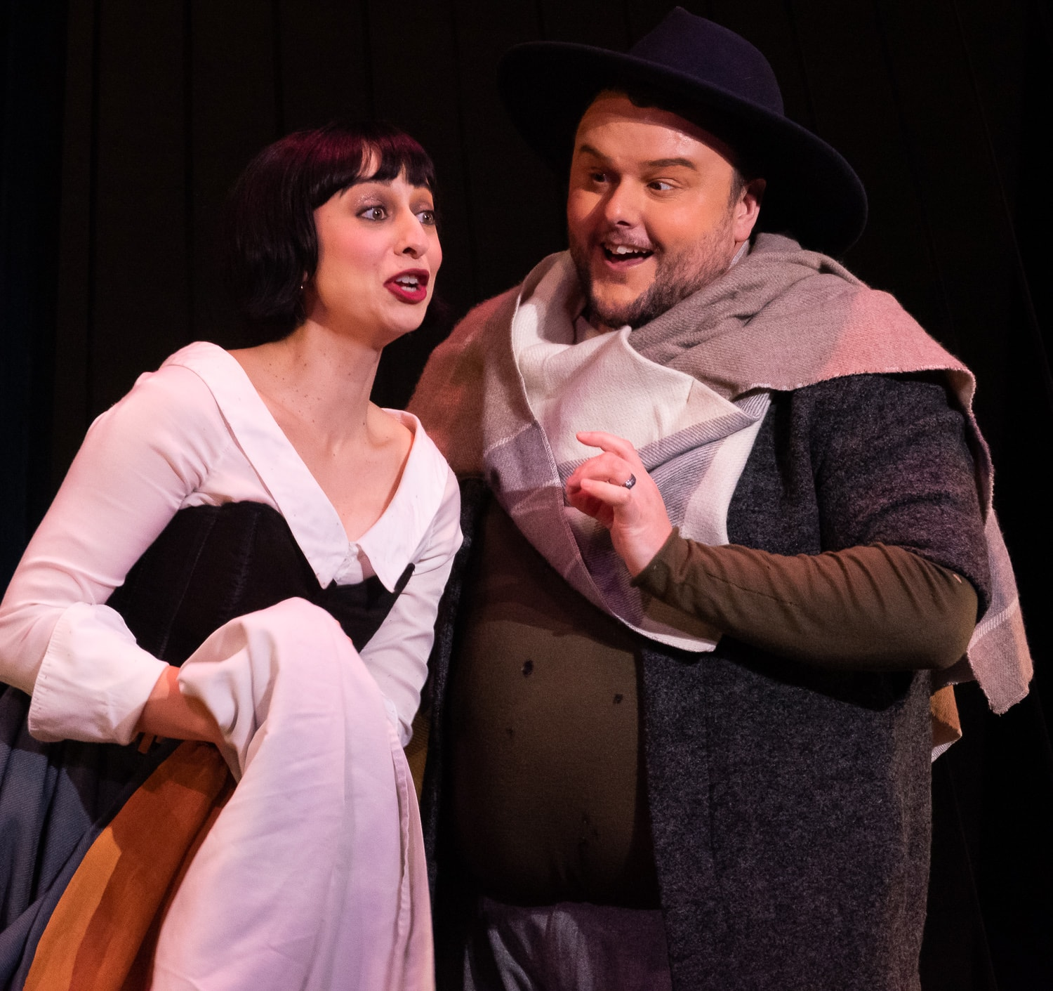 Soprano Pascale Beaudin and tenor Keven Geddes in rehearsal of Opera Lafayette's production of Beethoven's 'Leonore.' Photo courtesy of Opera Lafayette.