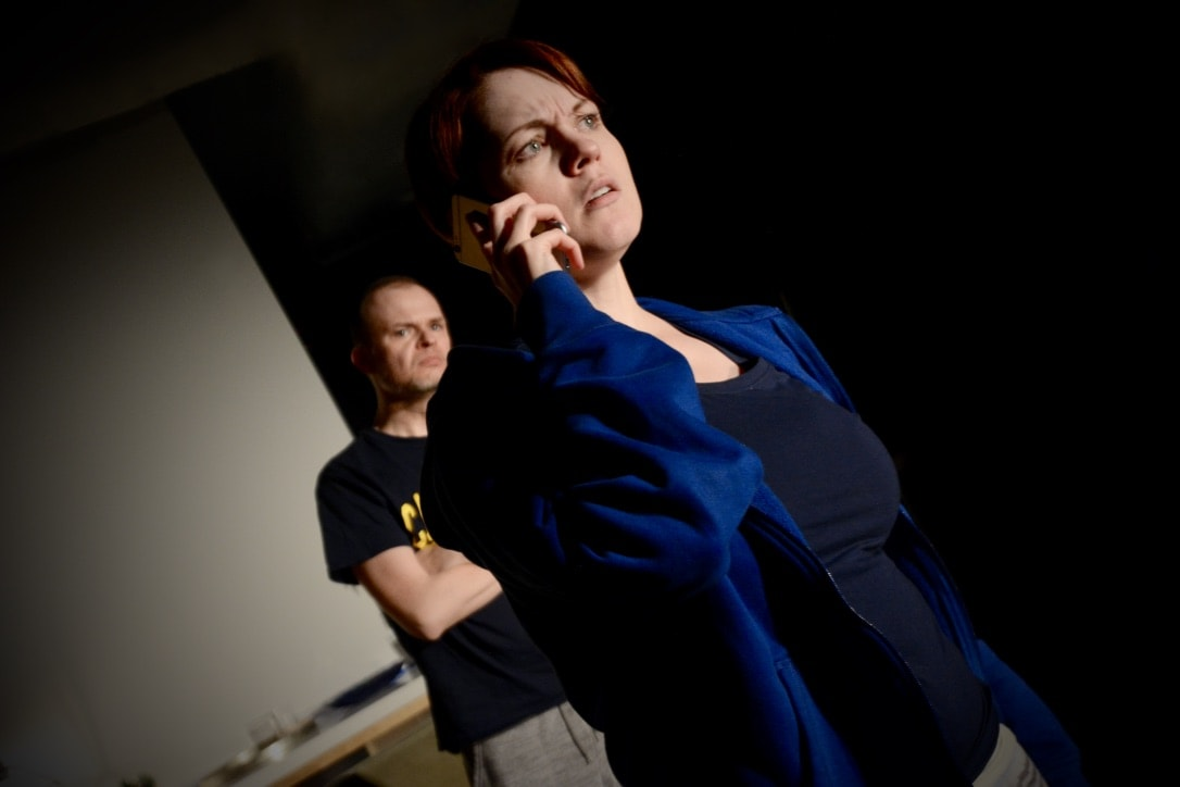 Drew Cannady and Carolyn Kashner in 'Weep' by Nu Sass Productions. Photo courtesy of Aubri O'Connor.