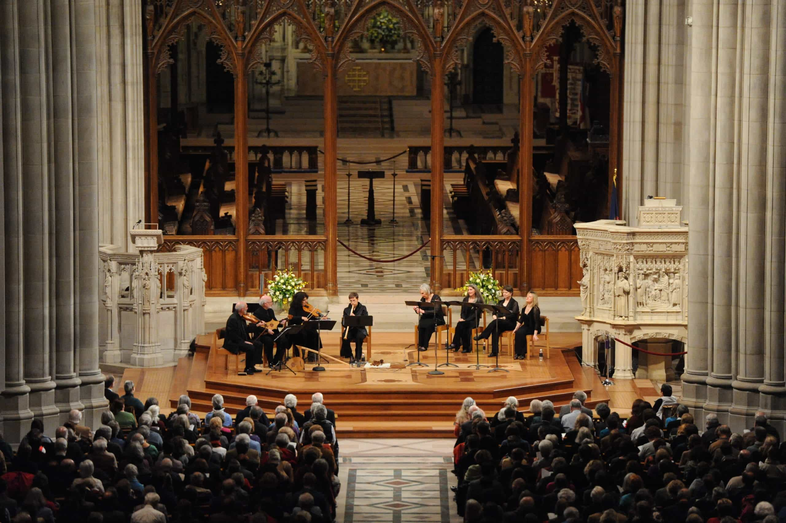 Folger Consort performs at the Washington National Cathedral. Photo courtesy of Folger Consort.