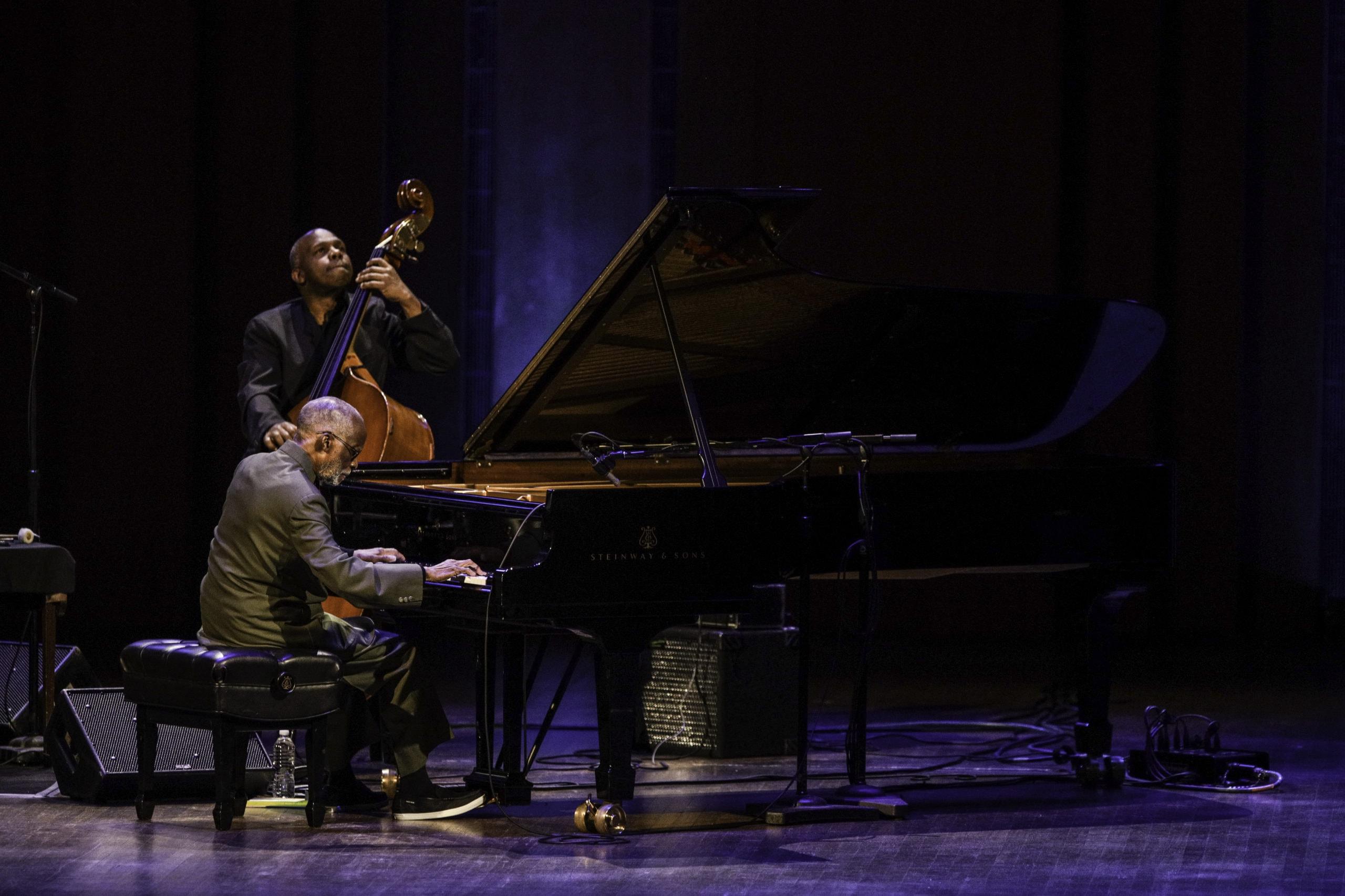 Pianist Ahmad Jamal and bassist James Cammack. Photo by Jati Lindsay.