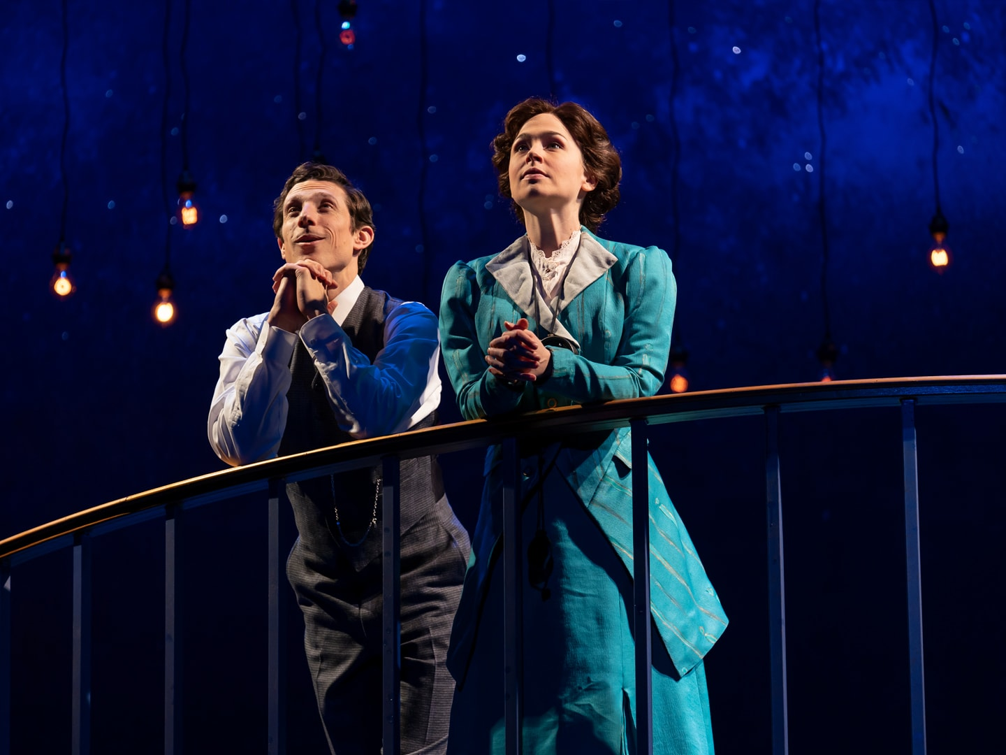 Jonathan David Martin as Peter and Laura C. Harris as Henrietta in 'Silent Sky' at Ford's Theatre. Photo by Scott Suchman.