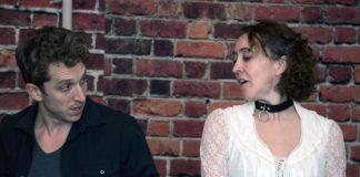 Ari Post as Thomas Novachek and Andra Whitt as Vanda Jordan in Providence Players of Fairfax's production of 'Venus in Fur.' Photo by Chip Gertzog.