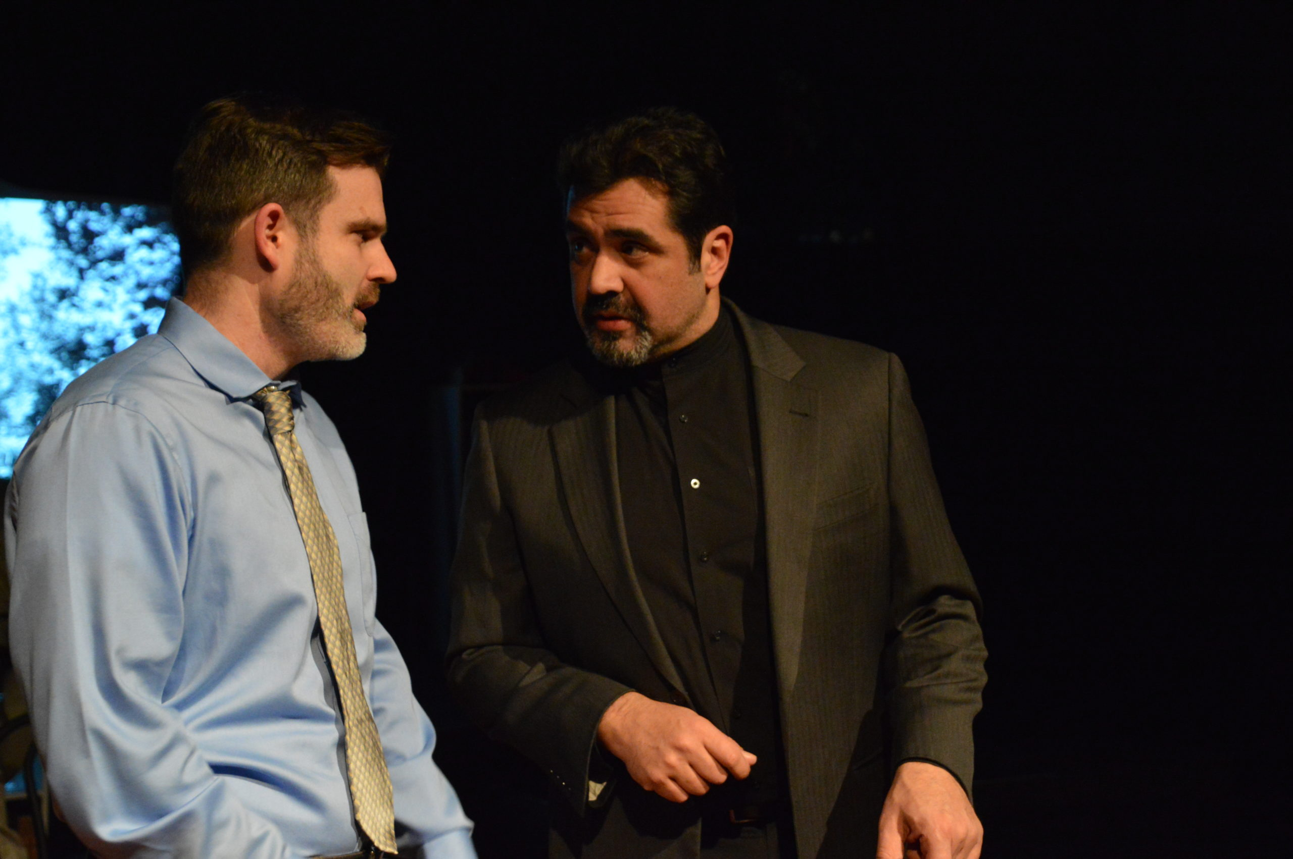 Casey Ewell and Ernie Molina in 'Book of Days' by St. Mark's Players. Photo by Oscar Alvarez.