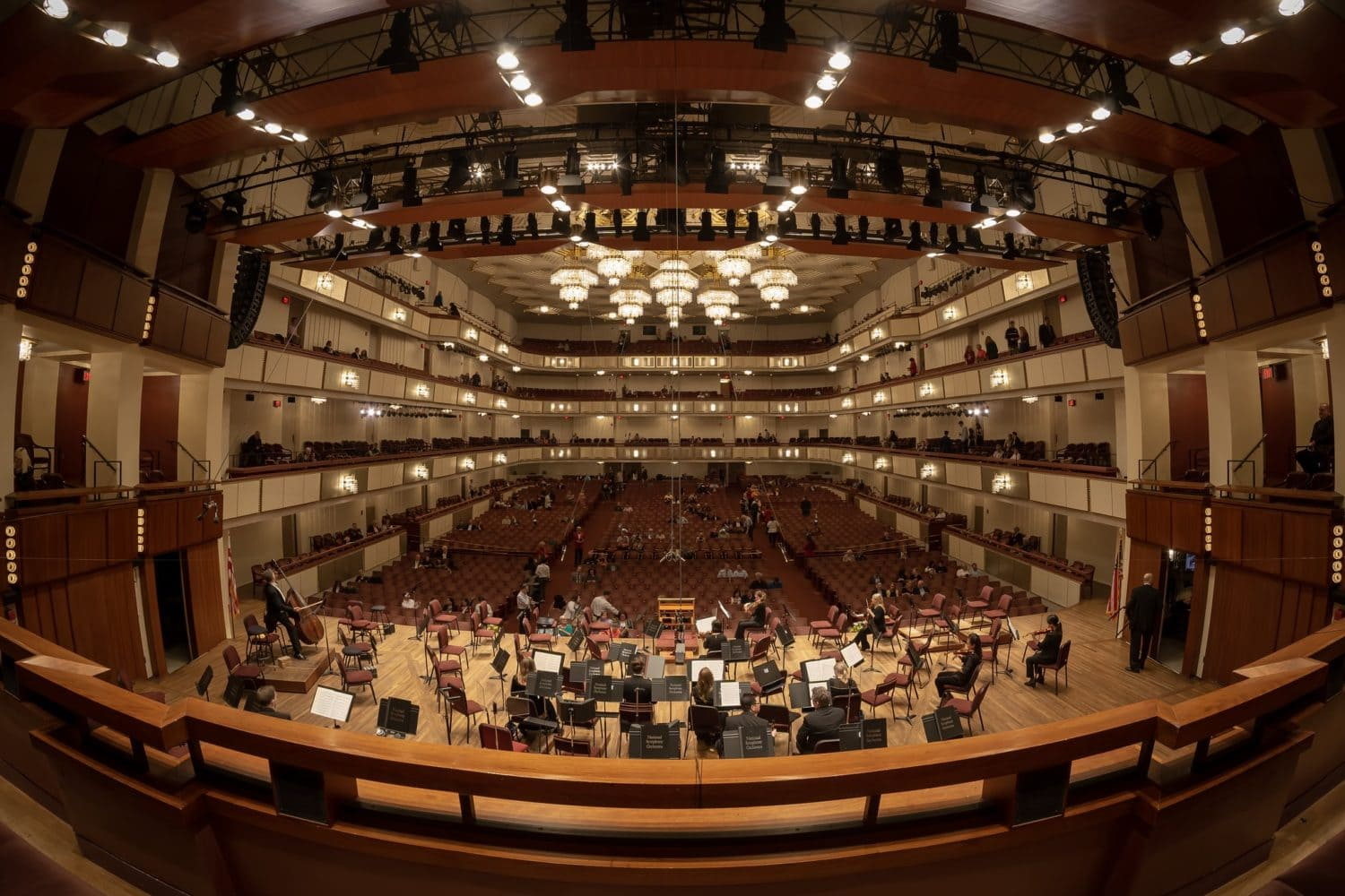 The NSO rehearses at The John F. Kennedy Center for the Performing Arts