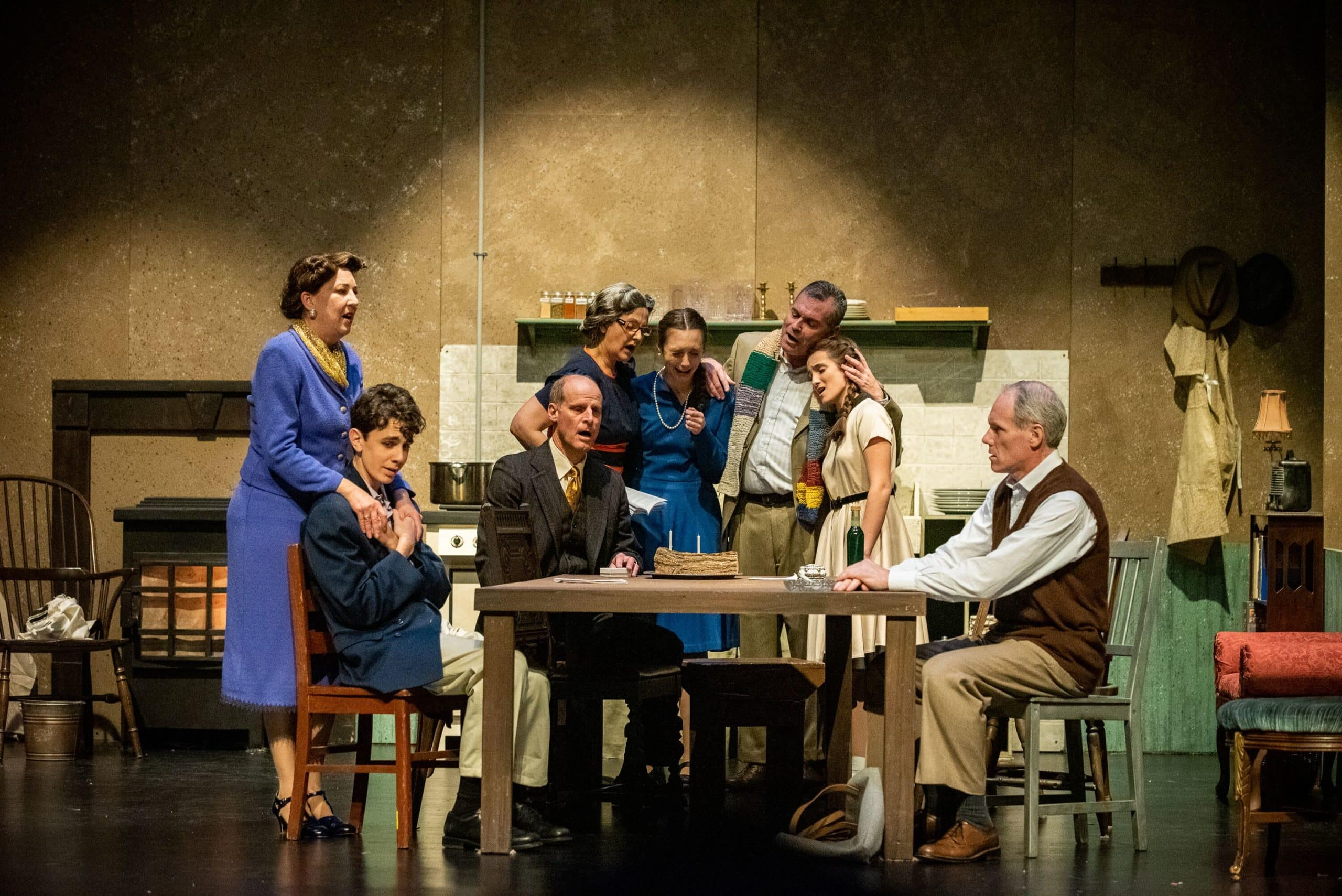 The cast of Reston Community Players' production of 'The Diary of Anne Frank.' Photo by Jennifer Heffner Photography.