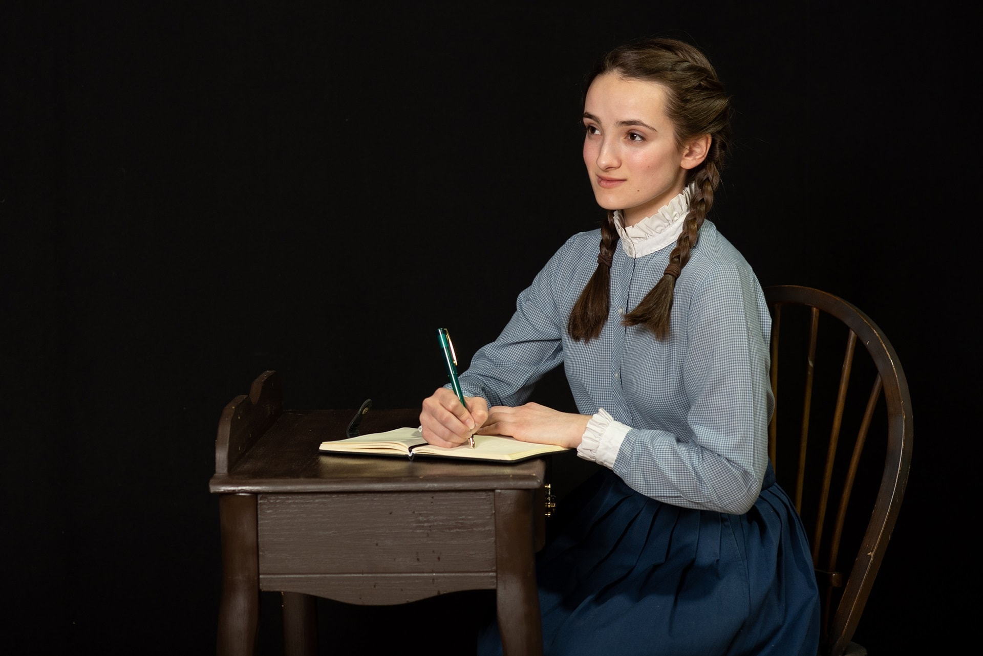 Sophia Manicone as Anne Frank in 'The Diary of Anne Frank' by Reston Community Players. Photo by Jennifer Heffner Photography.