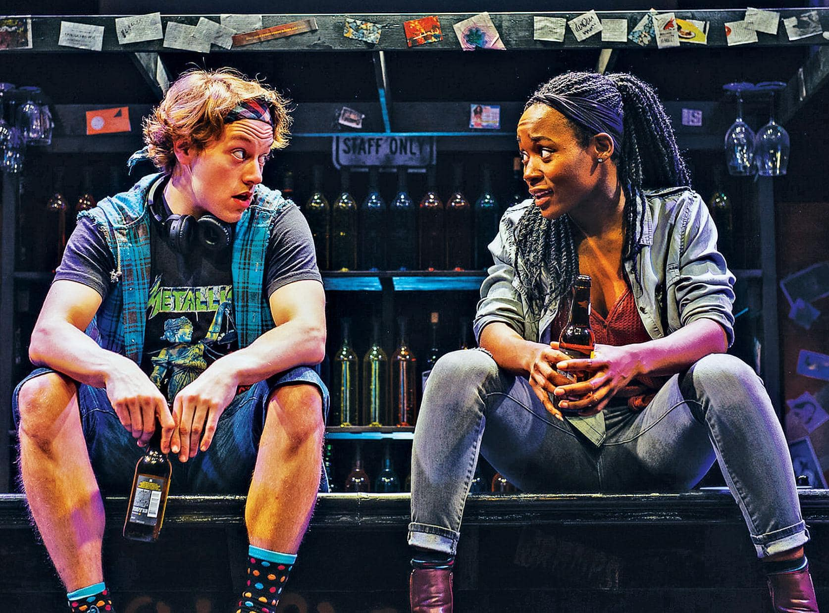 "Harrison Smith and Billie Krishawn in ""Airness,"" performed at 1st Stage in 2019. Photo by Cameron Whitman."